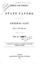 British and Foreign State Papers: Volume 21