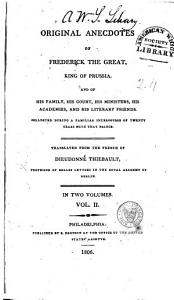 Original Anecdotes of Frederick the Great  King of Prussia Book