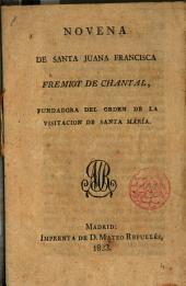 Novena a Sta Juana Frca Fremiot de Chantal ...
