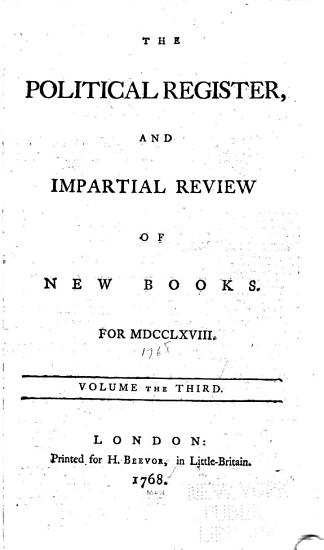 The Political Register  and Impartial Review of New Books PDF
