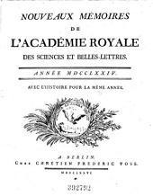 Nouveaux mémoires de l'Académie Royale des Sciences et Belles-Lettres ; avec l'histoire