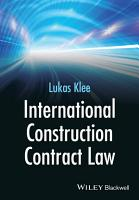 International Construction Contract Law PDF