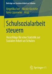 Schulsozialarbeit steuern: Vorschläge für eine Statistik zur Sozialen Arbeit an Schulen