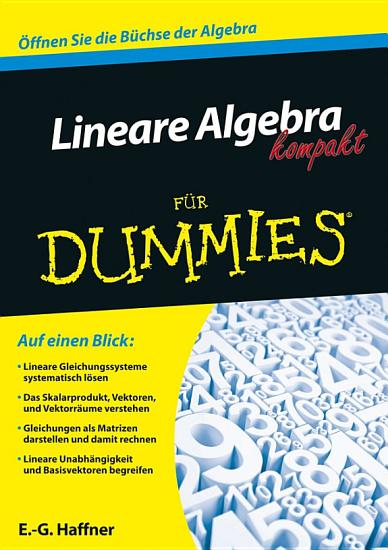 Lineare Algebra kompakt f  r Dummies PDF