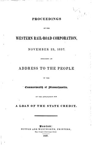 Proceedings of the Western Rail road Corporation  November 23  1837