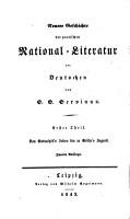 Geschichte der poetischen national literatur der Deutschen PDF