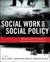 Social Work and Social Policy PDF