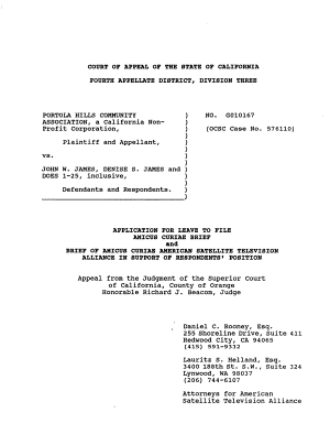 California  Court of Appeal  4th Appellate District   Division 3  Records and Briefs PDF