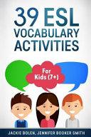 39 ESL Vocabulary Activities