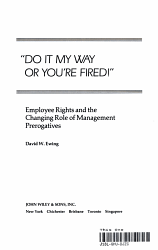 Do it My Way Or You re Fired   PDF