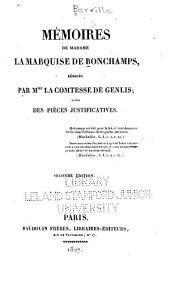 Mémoires de madame la marquise de Bonchamps: Volume38,Partie1