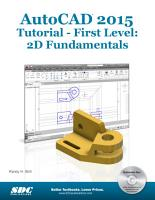 AutoCAD 2015 Tutorial First Level   2D Fundamentals PDF
