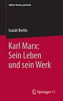 Karl Marx  Sein Leben und sein Werk PDF