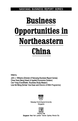 Business Opportunities in Northeastern China PDF