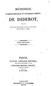 Mémoires, correspondance et ouvrages inédits de Diderot: Lettres à Mademoiselle Voland, de 1759 à 1774