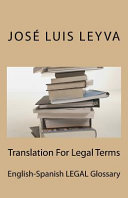 Translation for Legal Terms