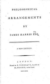 Philosophical Arrangements by Iames Harris Esq
