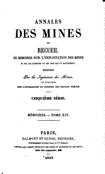 Download Annales Des Mines Book