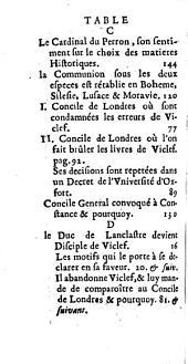 Histoire de l'heresie de Viclef, Jean Hus, et Jerome de Prague. Avec celle des Guerres de Boheme qui en ont esté les suites. [Par Antoine Varillas].