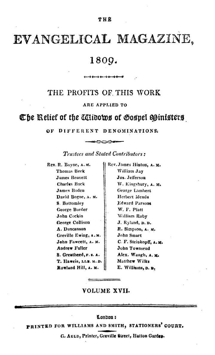 The Evangelical Magazine