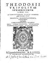 Theodosii Tripolitae Sphaericorum libri III