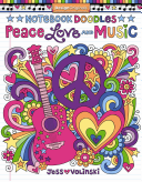 Notebook Doodles Peace, Love, Music