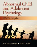 Abnormal Child and Adolescent Psychology PDF