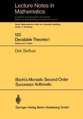 Büchi's Monadic Second Order Successor Arithmetic