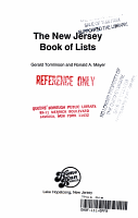 The New Jersey Book of Lists PDF