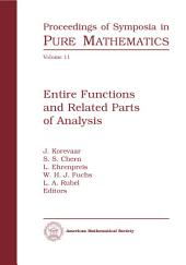 Entire Functions and Related Parts of Analysis: Proceedings