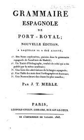 Grammaire espagnole de Port-Royal