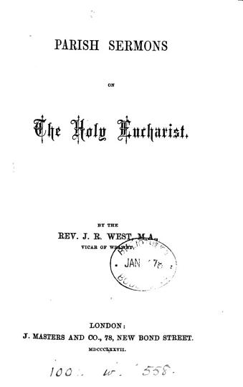 Parish Sermons on the Holy Eucharist PDF