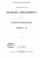 Annual Report of the Commissioner of the Banking Dept
