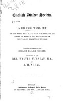 A Bibliographical List of the Works that Have Been Published  Or are Known to Exist in Ms PDF