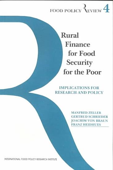 Rural Finance for Food Security for the Poor PDF