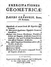 Exercitationes geometricae