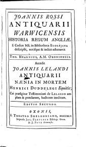 Historia regum Angliae: Accedit Joa. Lelandi naenia in mortem Henr. Duddelegi