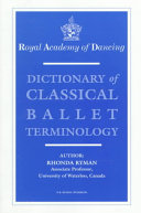 Dictionary of Classical Ballet Terminology PDF
