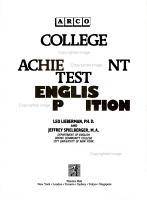 College Board Achievement Test PDF