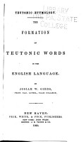 The Formation of Teutonic Words in the English Language PDF
