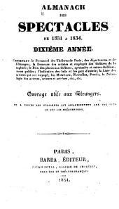 Almanach des spectacles ...: Agenda des théatres de France et des théatres français à l'étranger