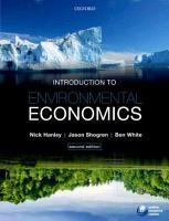 Introduction to Environmental Economics PDF