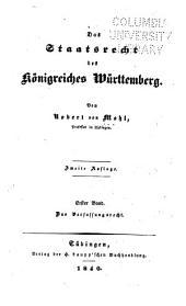 Das Staatsrecht des Königreiches Württemberg: Band 1