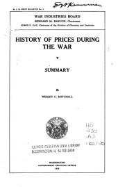History of Prices During the War: Issue 1