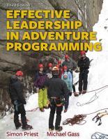 Effective Leadership in Adventure Programming  3E PDF