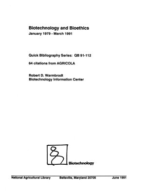 Biotechnology and Bioethics PDF