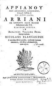 Arrianou Peri anabaseos Alexandrou, historion biblia z
