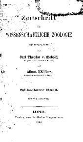 Zeitschrift für wissenschaftliche Zoologie: Band 17