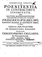 Diss. iur. de poenitentia in contractibus innominatis