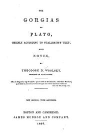The Gorgias of Plato: chiefly according to Stallbaum's text